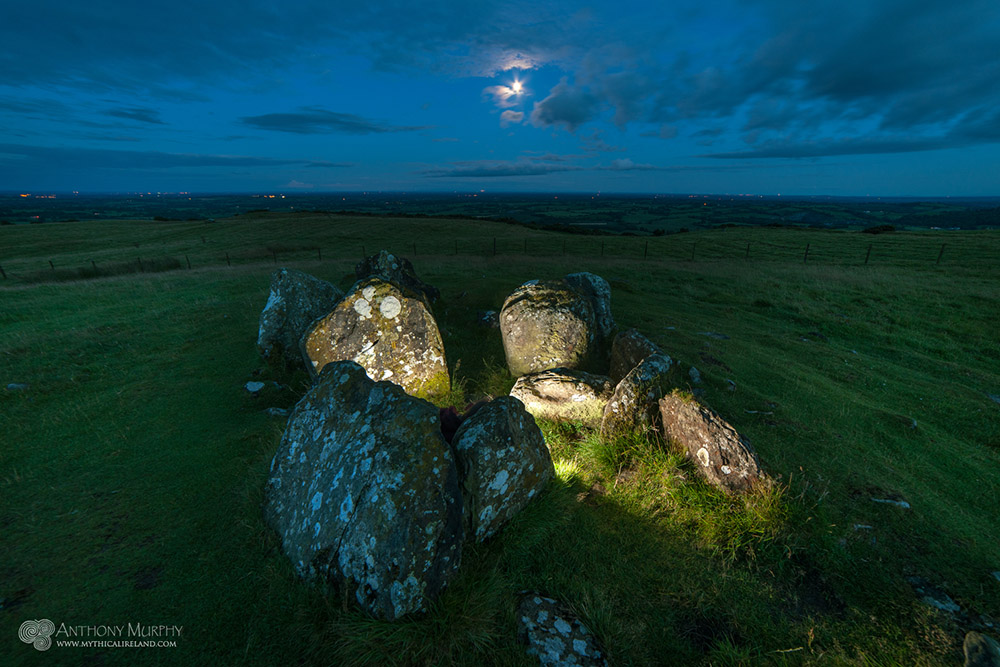 Moonrise over Cairn V Loughcrew