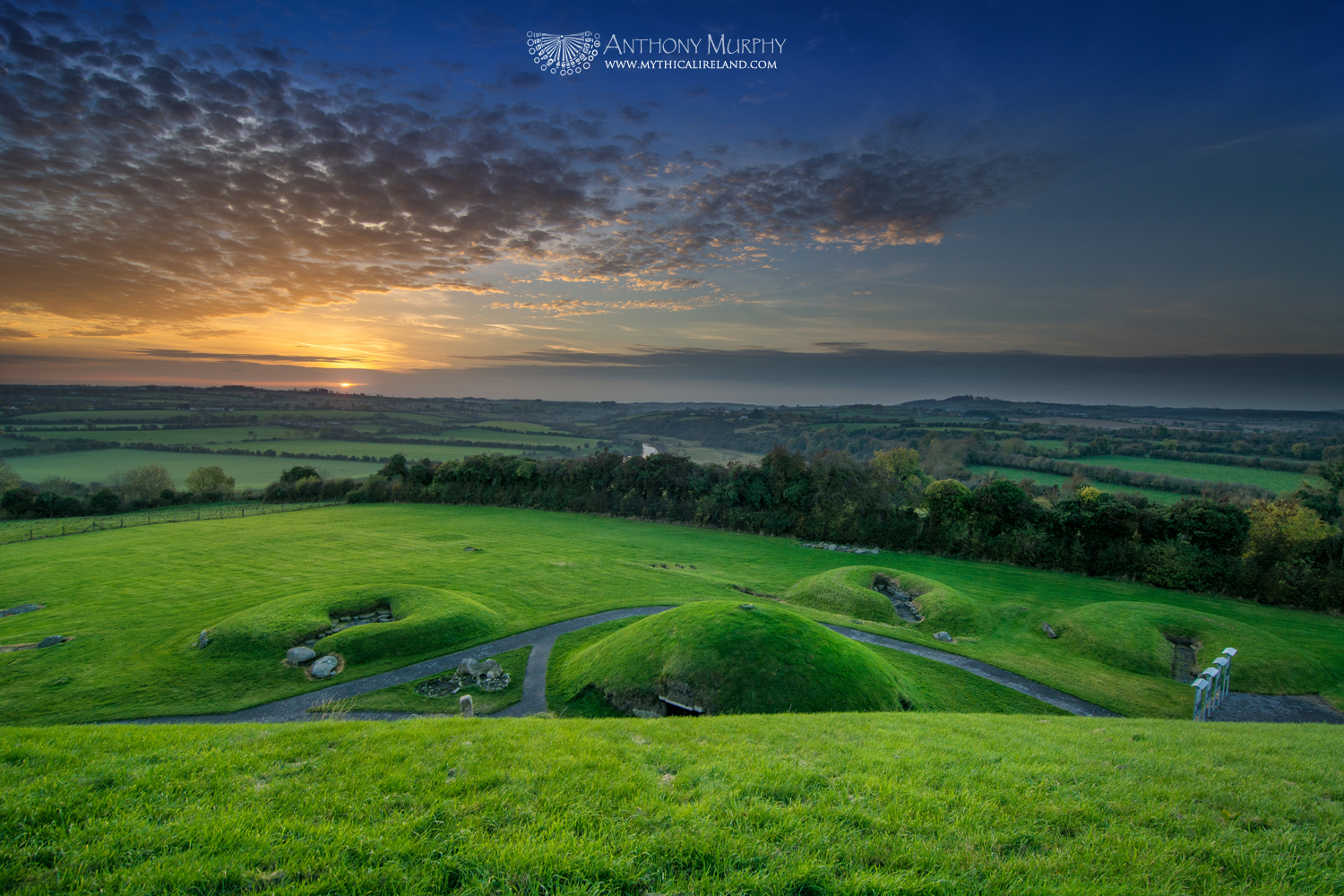 Sunset from top of Knowth