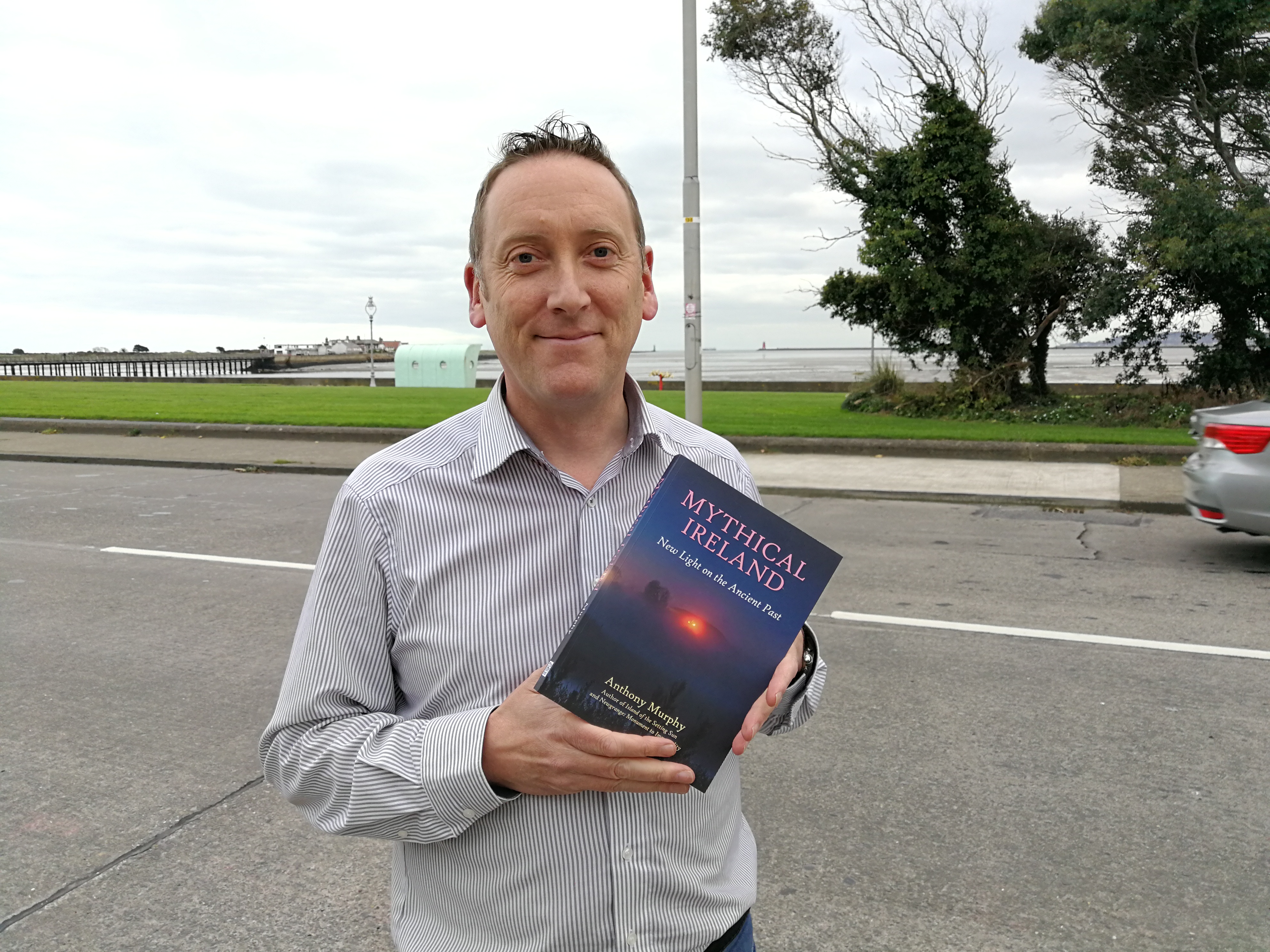 Anthony Murphy with Mythical Ireland book