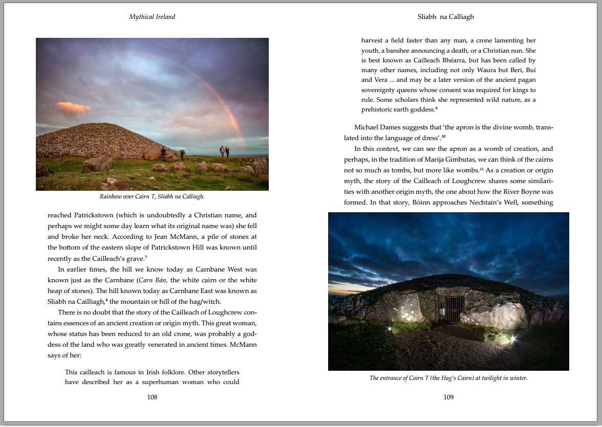 Spread from inside Mythical Ireland book