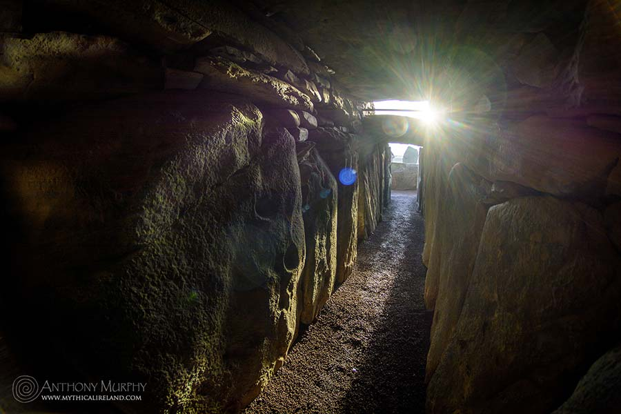 Winter solstice sunlight in the passage of Newgrange