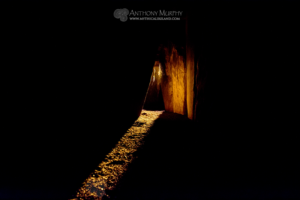 Solstice light in Newgrange.
