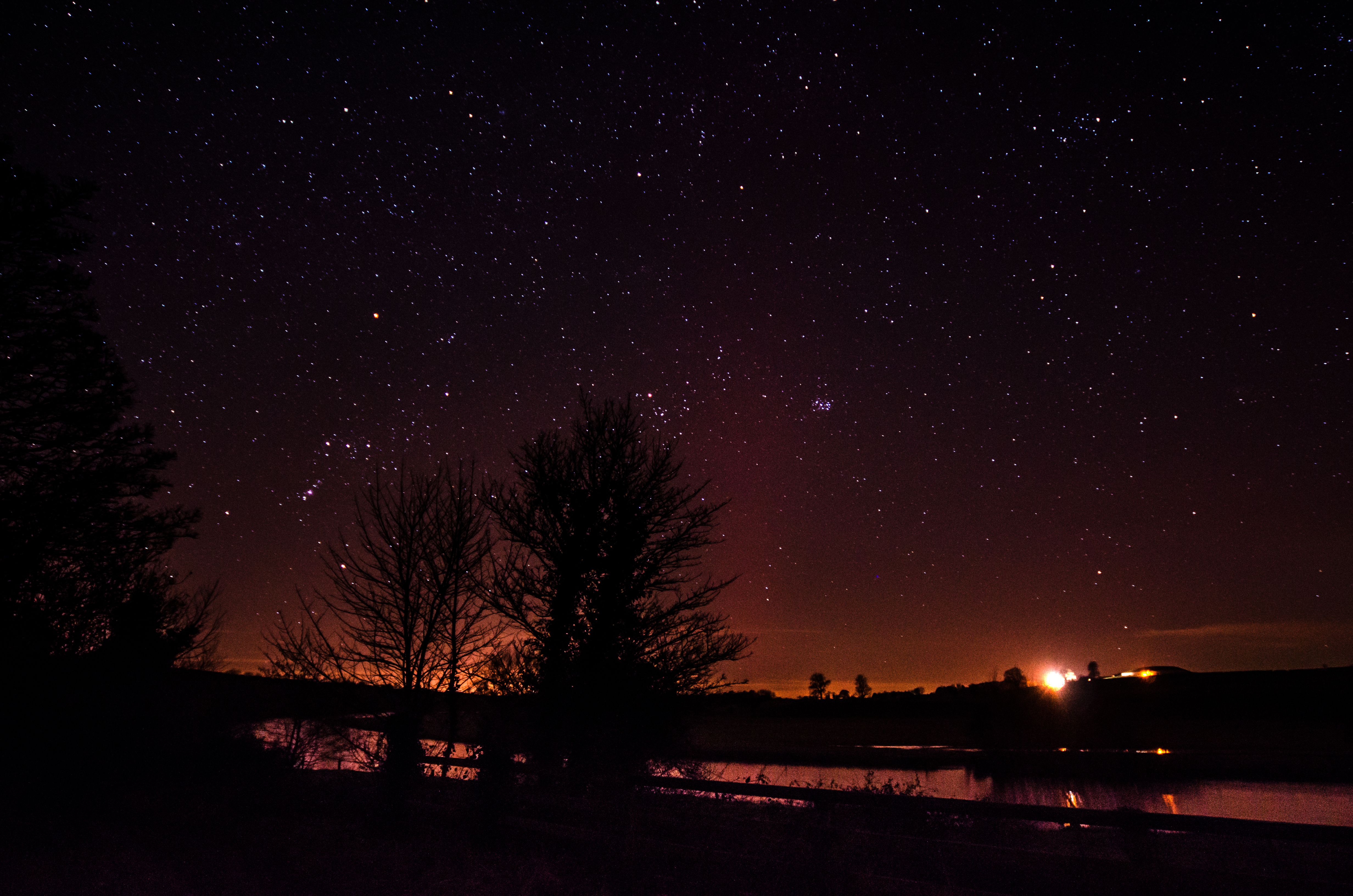 Orion and Taurus over the Boyne and Newgrange