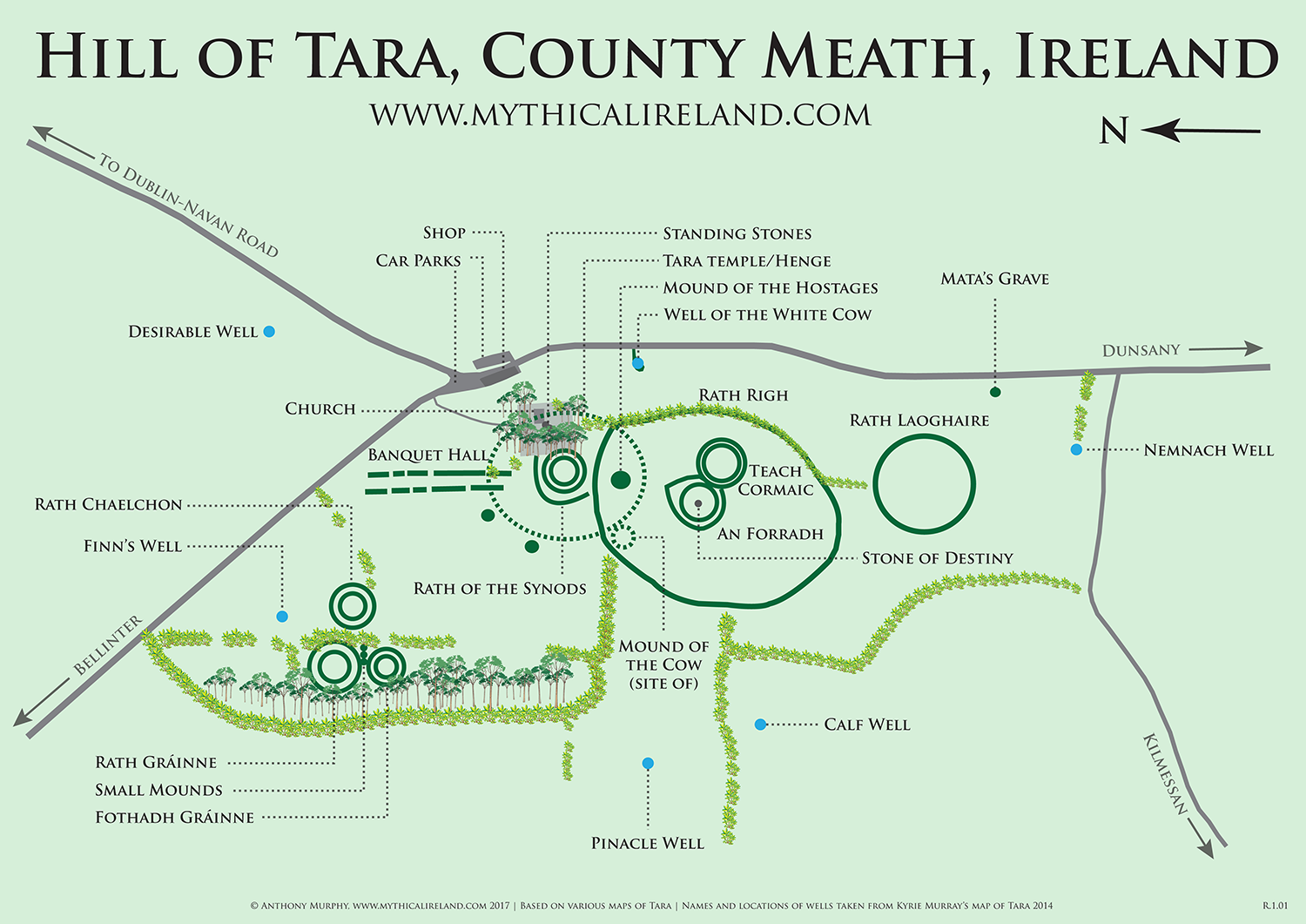 Mythical Ireland Ancient Sites The Hill Of Tara Teamhair