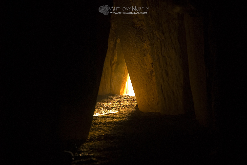 Winter solstice sunlight in Newgrange